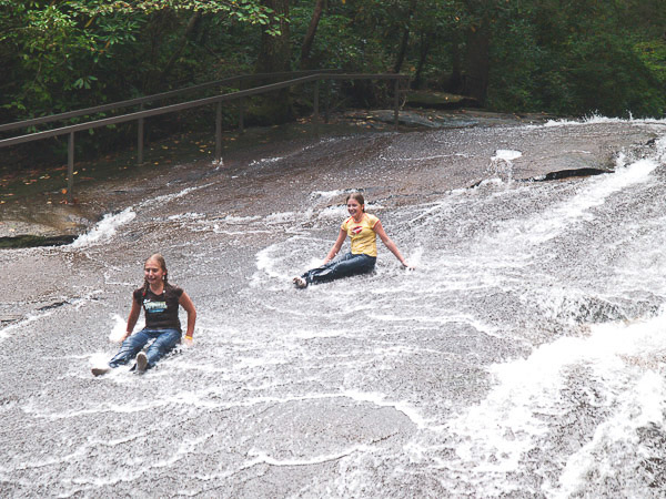 Sliding Rock in Pisgah Forest NC.