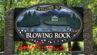 Welcome sign at Blowing Rock, NC.