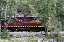 Great Smoky Mountain Railroad in Bryson, NC.