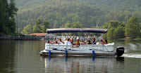 Pontoon Boat tours at Lake Lure, NC.