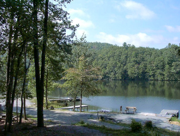 Fun things to do in Brevard NC : Cascade Lake Recreation Campground in Brevard, NC.