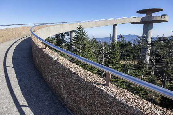Fun things to do in Brevard NC : Clingmans Dome in Great Smoky Mountains Park.