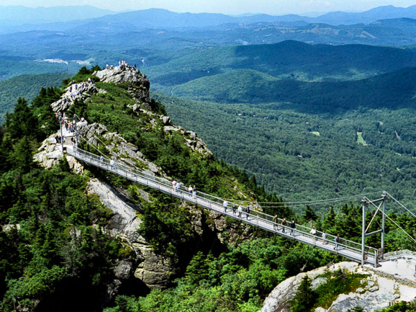 Fun things to do in Brevard NC : Grandfather Mountain in Linville NC.