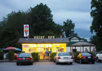 Fun things to do in Brevard NC : The Dairy Bar in Pisgah, NC.