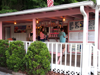 Fun things to do in Brevard NC : Dolly's Dairy Bar & Gift shop in Pisgah, NC.